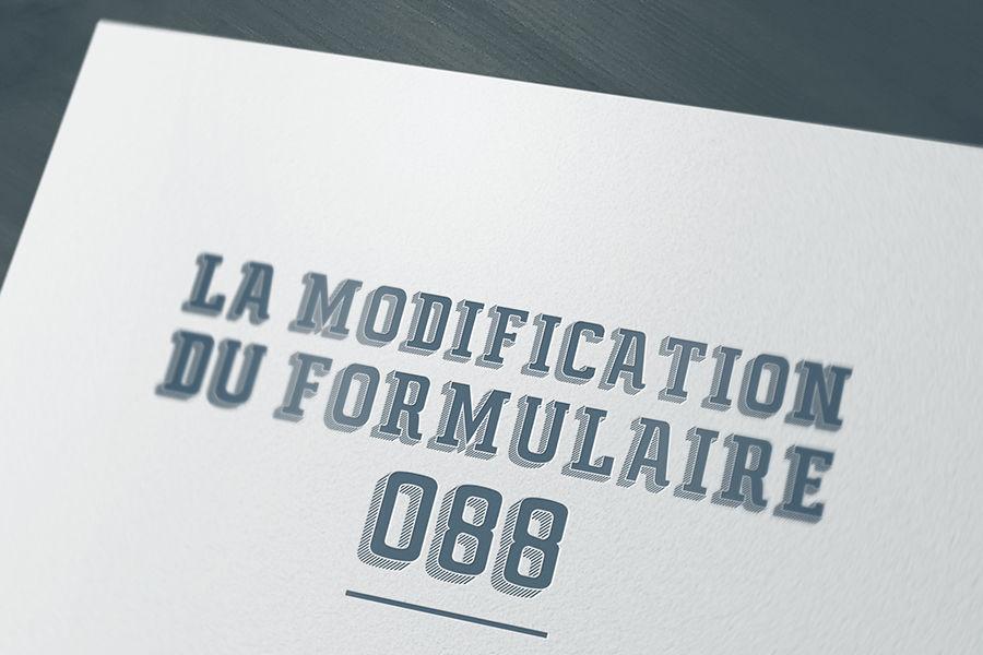 la modification du formulaire 88